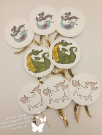 myths & magic cupcake toppers wm