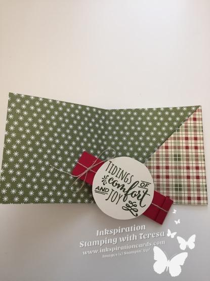 Christmas Pines envelope inside wm
