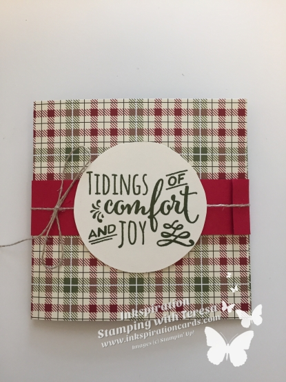 Christmas Pines envelope wm