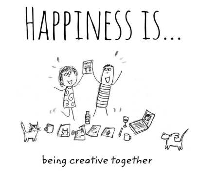 happiness is beiung creative together